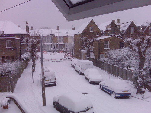My Street covered in Snow