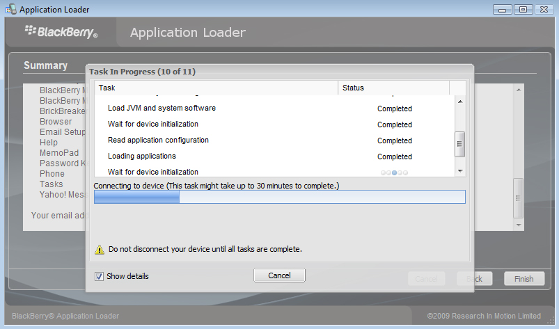 Blackberry 8230 Curve Smartphone Application Loader