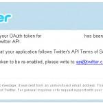 WordPress – Twitter Tools Plugin – Twitter – Application suspension notice