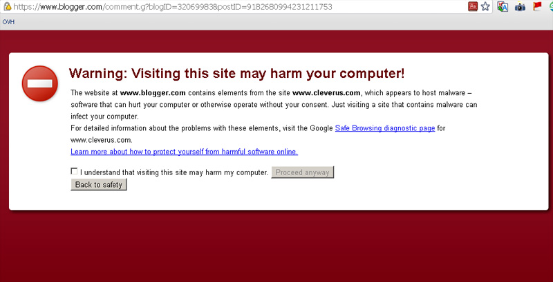 Google Webmaster Blog Affected With Malware