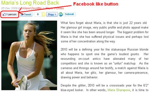 Facebook Like Button in WordPress