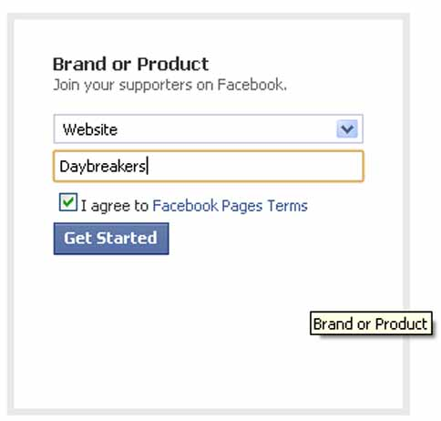 Faebook Page - Category - Brand or Product