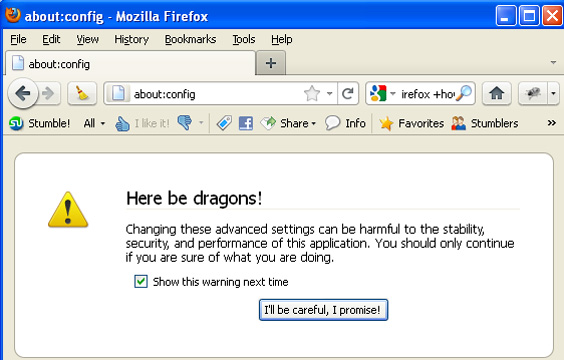 Changing default search engine in Firefox - Step 1
