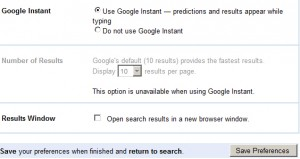 How To Turn Off Google Instant Search