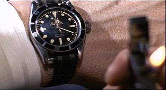 James Bond Wearing Rolex Submariner in Goldfinger