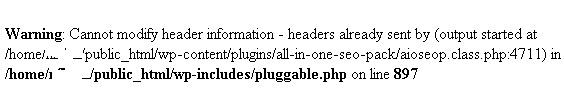 Warning Cannot modify header information - headers already sent by