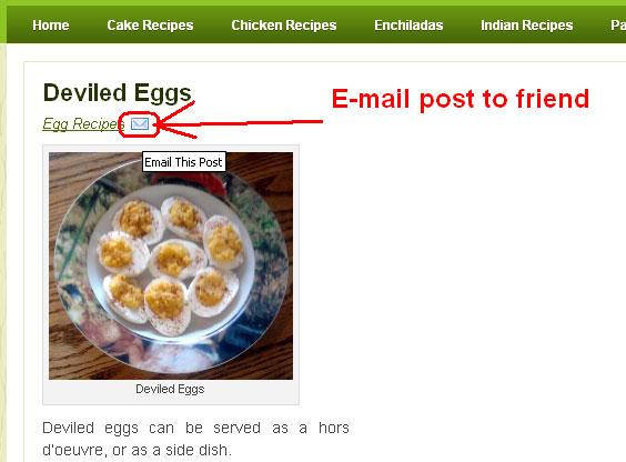 Wordpress E-mail Post To Friend
