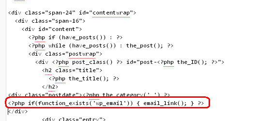 Add code in single.php file