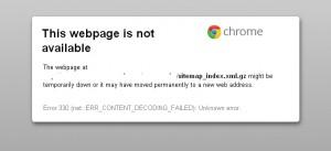Error 330 (net::ERR_CONTENT_DECODING_FAILED): Unknown error.