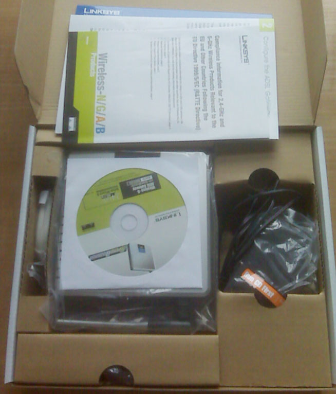 Linksys WAG54GS Wireless-G ADSL Gateway - Box