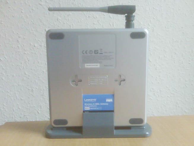 Linksys WAG54GS Wireless-G ADSL Modem - Back side