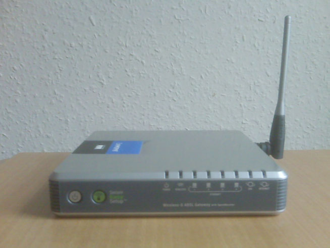 Linksys WAG54GS Wireless-G ADSL Gateway - Horizontal