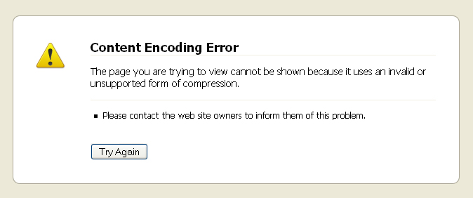 Content Encoding Error in Firefox