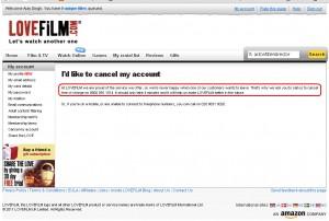 How To Cancel LoveFilm.com Account