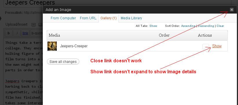 WordPress 3.2 Add An Image Doesn't Work