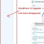 WordPress 3.2 Admin Menu Doesn't Show