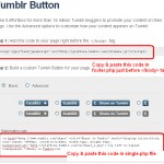 Tumblr Button For WordPress