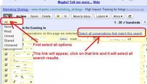 Gmail – How To Search and Delete More Than 20 Emails At A Time