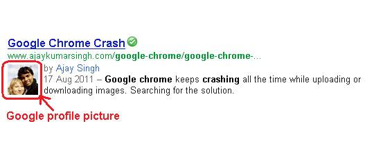Google Profile Picture in Google Search Result