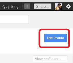 Google+ Profile Edit Profile