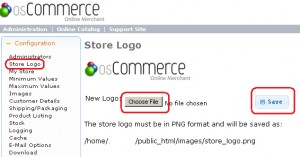 How To Change osCommerce Store Logo