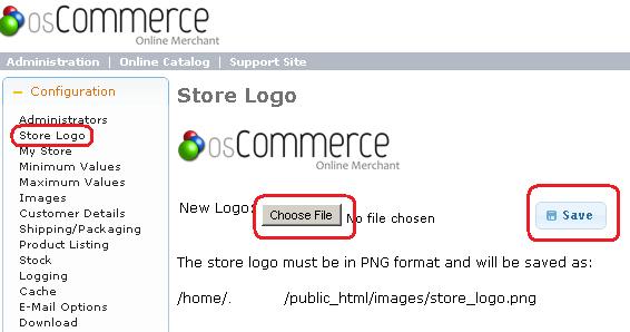 osCommerce - Change Store Logo from Admin