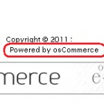 How to remove Powered by osCommerce text from the footer