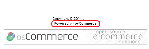 Powered by osCommerce