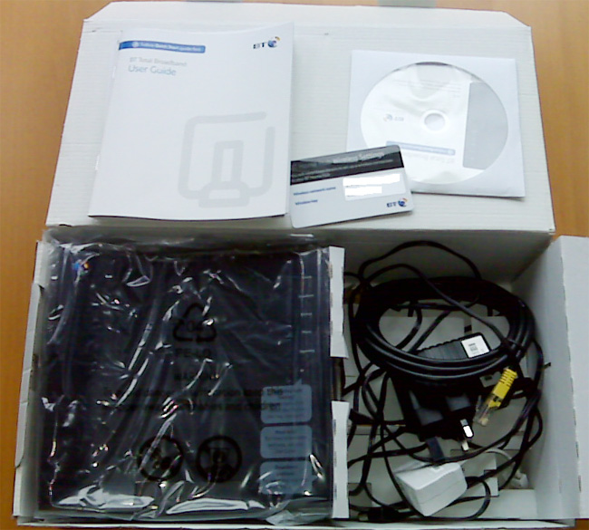 BT Home Hub 2.0 - Box Contents