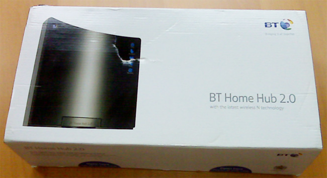 BT Home Hub 2.0 Box