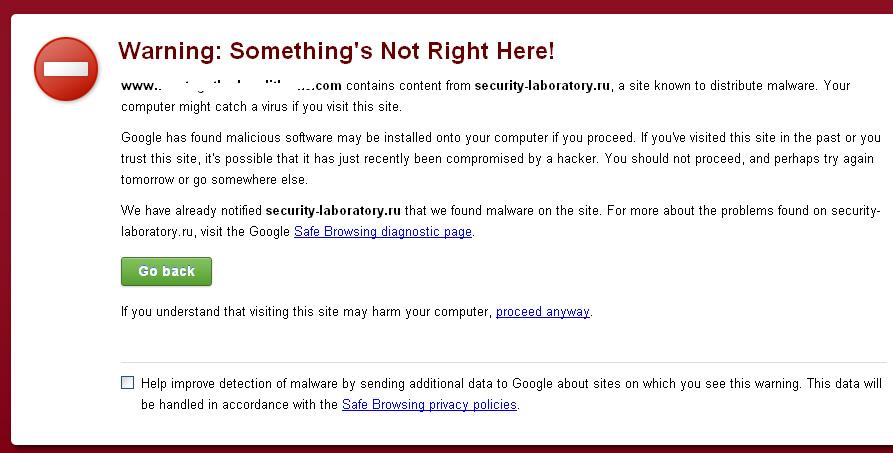 Google Analyticator Malware Warning