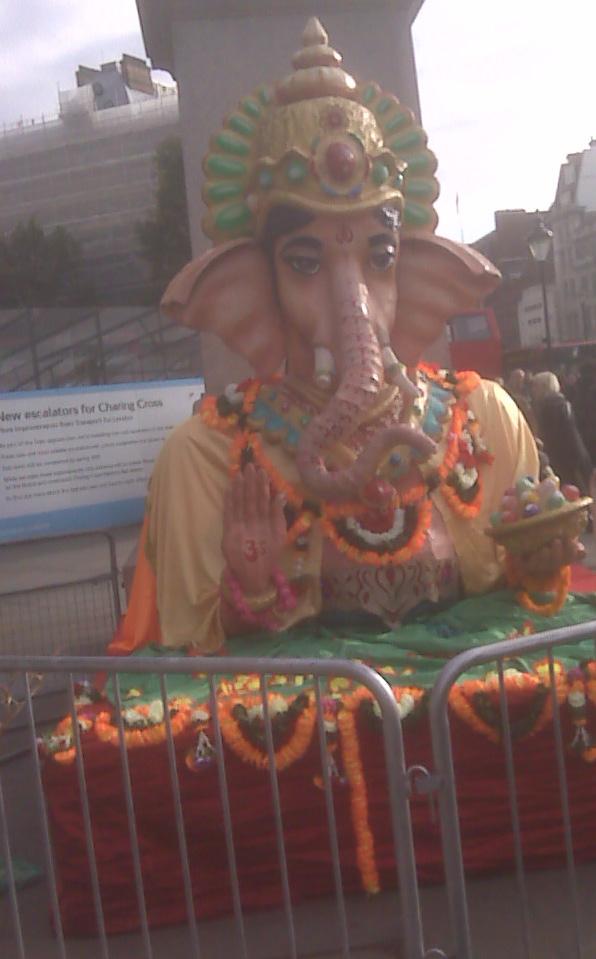 Lord Ganesha at Trafalgar Square During Diwali Celebration 2011