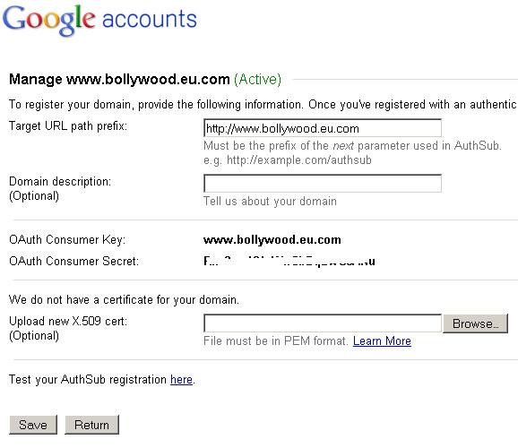 Google Accounts - Manage Domain