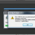 Adobe – Error 1935. An error occurred during the installation of assembly component