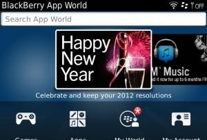 BlackBerry Bold 9900 – BlackBerry App World with WiFi