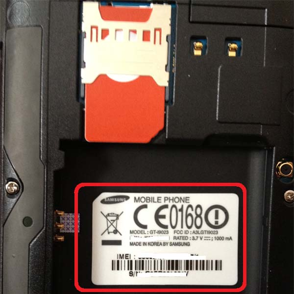 Nexus S Remove Battery to see Model Number