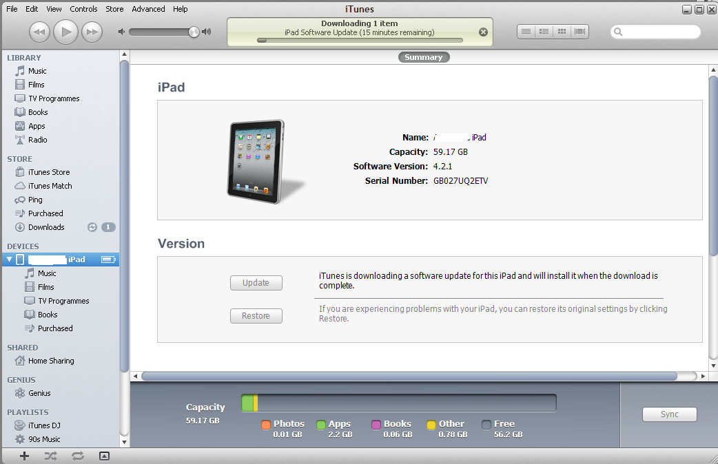 Downloading iOS 5