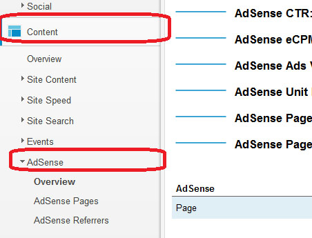 AdSense Revenue in Google Analytics