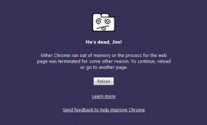Google Chrome Crash: Chrome ran out of Memory
