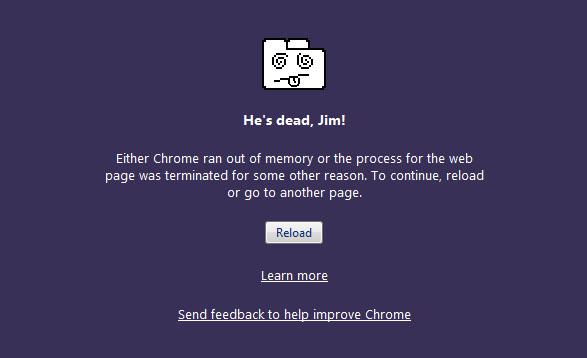 Chrome Crash: Chrome Ran Out of Memory