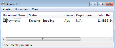 Deleting Spooling