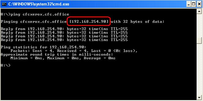 Ping printer name to find IP address