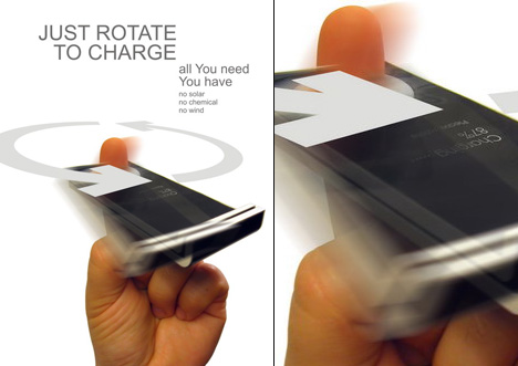 Rotate to charge