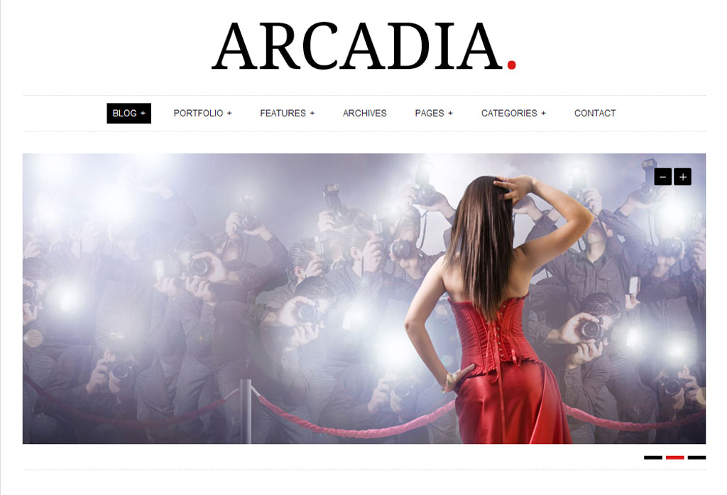 Arcadia Responsive WordPress Theme