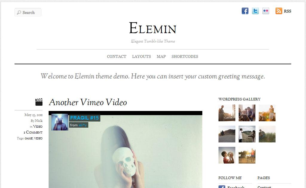 Elemin Responsive WordPress Theme