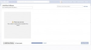 Facebook Error: There Was an Error – Max number of upload retries exceeded: Error #2032