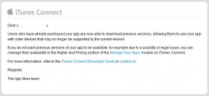 Apple now allows users to download previous versions of apps