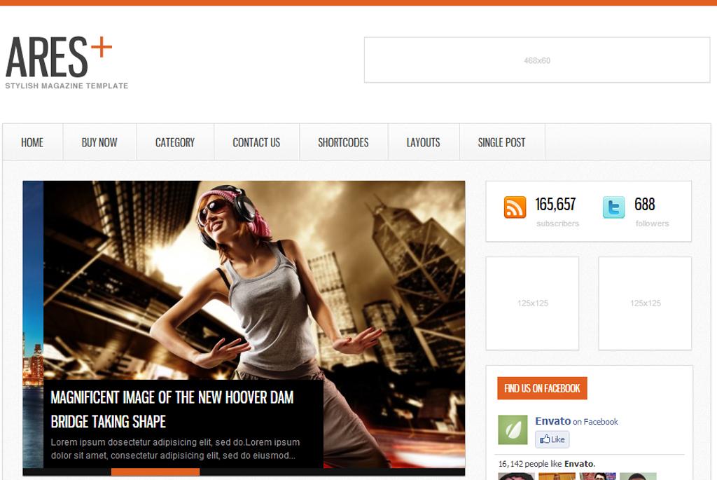 Ares Responsive WordPress Magazine Theme