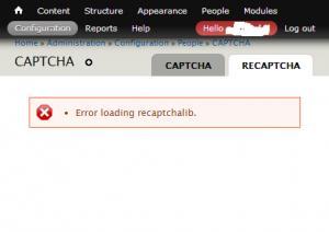 Drupal Error loading recaptchalib