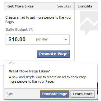 "Facebook ""Want More Page Like"""